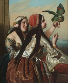 Gypsy Girls with Parrot (Two Panamanian Girls with Parrot)