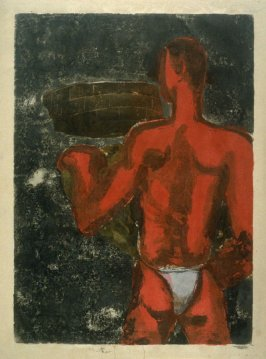Picture of a Man drawn in Red
