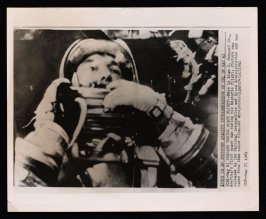 Shepard During Space Flight