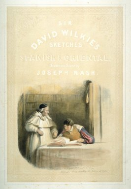 Washington Irving examining Spanish records