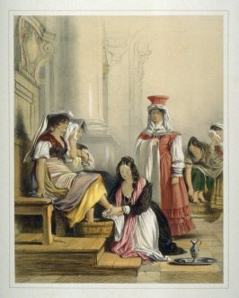 The Princess Doria washing the feet of the Pilgrims
