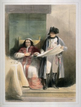 Napoleon and the Pope at Fontainebleau