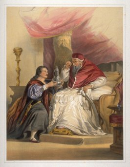 Benvenuto Cellini presenting to Pope Paul III a chalice of his own manufacture