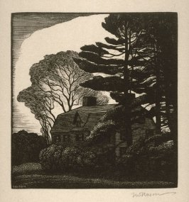 Untitled (house and trees)