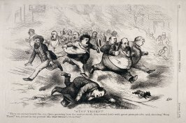 Stop Thief!, from Harper's Weekly, (October 7, 1871), p. 940