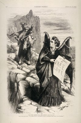 Get Thee Behind Me (Mrs.) Satan, from Harper's Weekly, (February 17, 1872), p. 140
