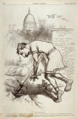 """Caesar, Now Be Still"", from Harper's Weekly, (December 16, 1876), p. 1032"