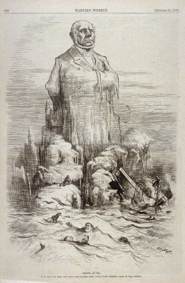 Struck-At Sea, from Harper's Weekly, (October 21, 1876), p. 856