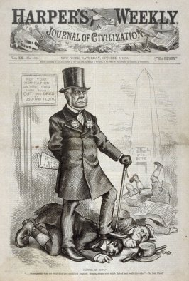 """Croppies Lie Down"", from Harper's Weekly, (October 7, 1876), cover page"