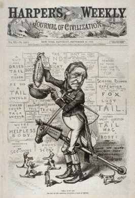 """Still Hunt""ing, from Harper's Weekly, (September 23, 1876), cover page"