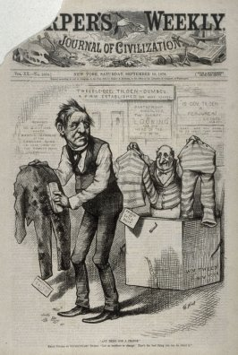 """Anything for a Change"", from Harper's Weekly, (September 16, 1876), cover page"