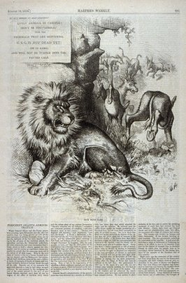 Kick With Care, from Harper's Weekly, (August 19, 1876), p. 681