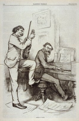 Getting in Tune, from Harper's Weekly, (July 29, 1876), p. 616