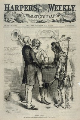 Getting in Tune, from Harper's Weekly, (July 29, 1876), cover page