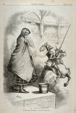 Injured Innocence - Southern Chivalry, from Harper's Weekly, (March 11, 1876), p. 204