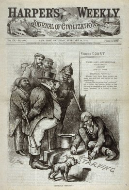 "Republican ""Simplicity"", from Harper's Weekly, (February 26, 1876), cover page"