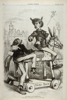 The Hobby in the Kindergarden, from Harper's Weekly, (October 24, 1874), p. 876