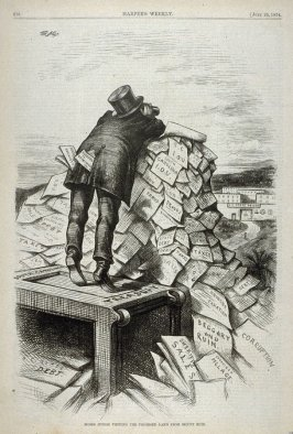 Moses Junior Viewing the Promised Land from Mount Ruin, from Harper's Weekly, (July 25, 1874), p. 616