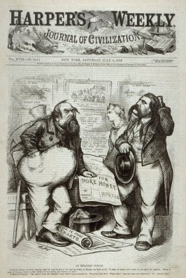An Inflation Opinion, from Harper's Weekly, (July 4, 1874), cover page