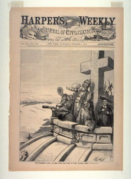 """""""The Promised Land"""" As Seen From the Dome of St. Peter's, Rome, from Harper's Weekly, (October 1, 1870), cover page"""