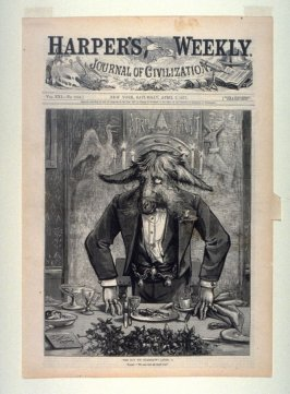 The Day We Celebrate (April 1), from Harper's Weekly, (April 7, 1877), cover page