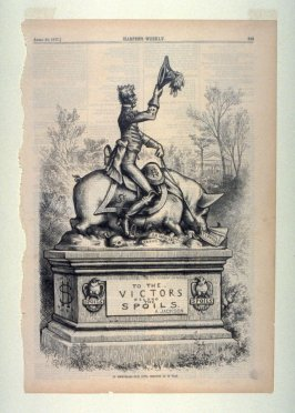 In Memoriam - Our Civil Service As It Was, from Harper's Weekly, (April 28, 1877), p. 325