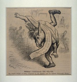 Whoa! Greenback the Weaver, from Harper's Weekly (April 24, 1880)