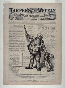 Tweed-le-dee and Tilden-dum, from Harper's Weekly, (July 1, 1876), cover page