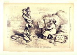 """""""When There Is an Evil"""" (Caesarism) """"There Is a Remedy"""" (Ridicule), from Harper's Weekly, (November 8, 1873), p. 992"""