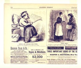 Notice - No Cartoon This Week and What Next, from Harper's Weekly, (January 31, 1874), p. 112
