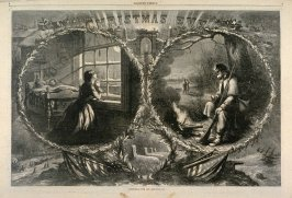 Christmas Eve, 1862, from Harper's Weekly, (January 3, 1863), pp. 8-9