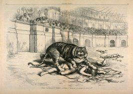 Tammany Tiger Loose, from Harper's Weekly, (November 11, 1871), pp. 1056-1057