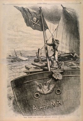 The Same Old Pirate Afloat Again, from Harper's Weekly, (September 19, 1874), p. 776