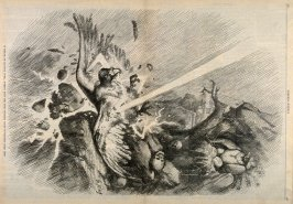 It Struck (In Blowing Over) Picking Even the Poor Soldiers' Bones To Feather Their Nest, from Harper's Weekly, (March 25, 1876), pp. 248-249