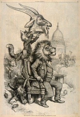 The Crowning Insult To Him Who Occupies the Presidential Chair, from Harper's Weekly, (May 13, 1876), pp. 388-389