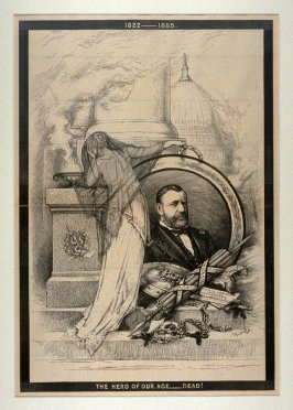The Hero of Our Age - Dead!, from Harper's Weekly, (August 1, 1885)
