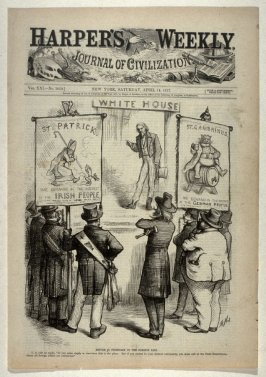 Reform Is Necessary in the Foreign Line, from Harper's Weekly, (April 14, 1877), cover page