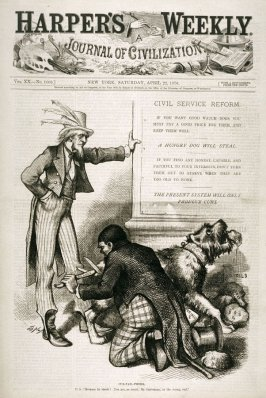 Cur-Tail-Phobia, from Harper's Weekly, (April 22, 1876), cover page