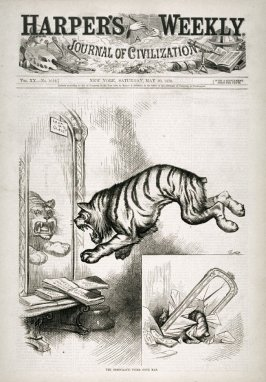 The Democratic Tiger Gone Mad, from Harper's Weekly, (May 20, 1876), cover page