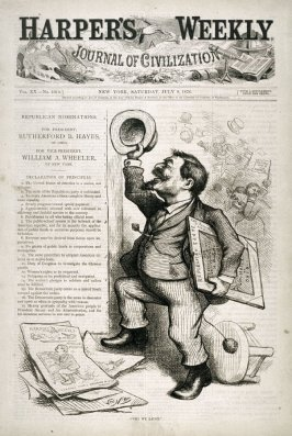 Why We Laugh, from Harper's Weekly, (July 8, 1876), cover page
