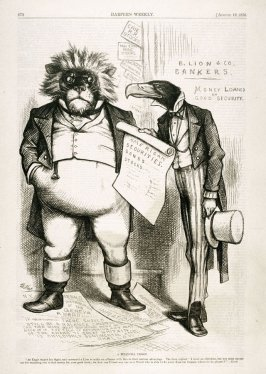 A Financial Lesson, from Harper's Weekly, (August 19, 1876), p. 672