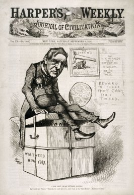 A Box Stew; or An Enviable Position, from Harper's Weekly, (September 9, 1876), cover page
