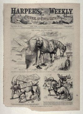 The Horse and His Rider, from Harper's Weekly, (June 27, 1874), cover page
