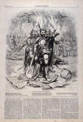 A Slip in the Right Direction, from Harper's Weekly, (June 6, 1874), p. 473