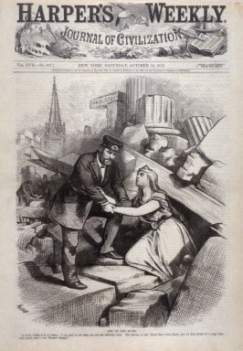 Out of the Ruins, from Harper's Weekly, (October 18, 1873), cover page