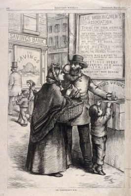 The Working Man's Mite - from Harper's Weekly,  (May 20, 1871), p. 468