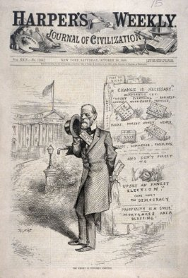 The Benefit of English's Ambition, from Harper's Weekly (October 30, 1880)