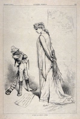 As Solid and Defiant As Ever, from Harper's Weekly, (October 2, 1880), p. 633