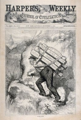 """Another Republican Trick"", from Harper's Weekly, (September 4, 1880), cover page"
