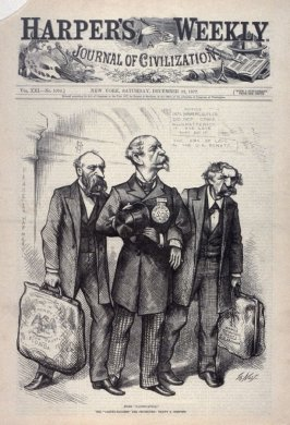 """More """"Pacification"""", from Harper's Weekly, (December 22, 1877), cover page"""